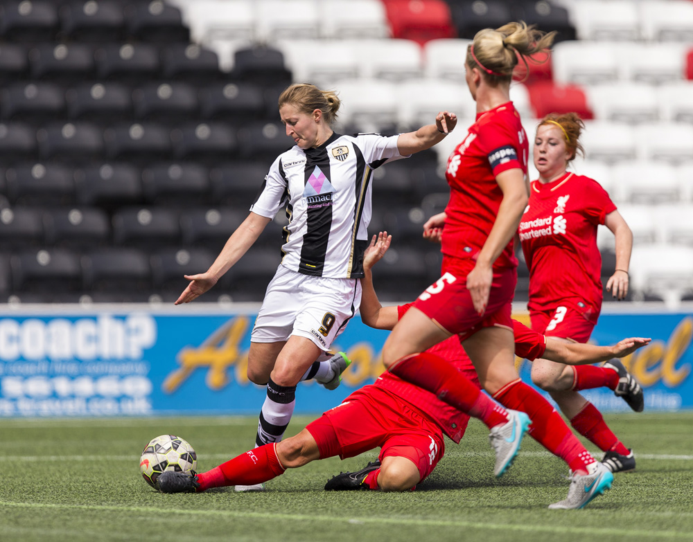 18.07.2015. Select Security Stadium,Liverpool, England. The FA Women's Super League Football, Liverpool versus Notts County Ladies.